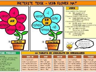 Spanish Preterite Revision Mat and Display