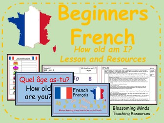 French lesson and resources - KS2 - How old am I?