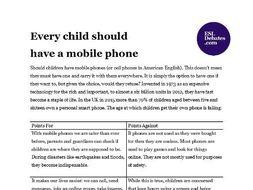 debate on mobile phones disadvantages