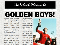 England Win Football World Cup 1966 Newspaper Comprehension