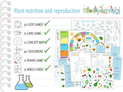 Plant nutrition and reproduction -11x Activities and Games