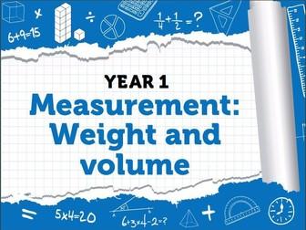 Year 1 – Spring – Week 11 – Measurement: Weight & Volume