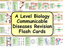 Free A Level Biology Communicable Diseases Revision Flash Cards