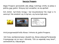 The Tempest: summary with pictures and activities in Polish