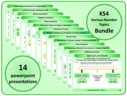 KS4 Various Number Topics BUNDLE