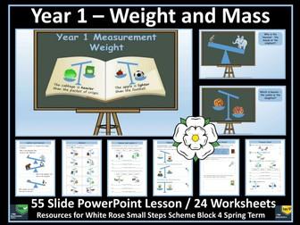 Weight and Mass - Year 1 White Rose Style Bundle