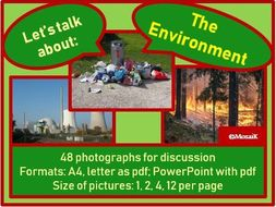 The Environment : picture cards for discussion
