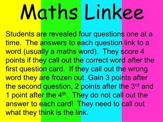 Maths Linkee (Maths word game)