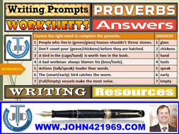 USING PROMPTS TO WRITE: WORKSHEETS WITH ANSWERS