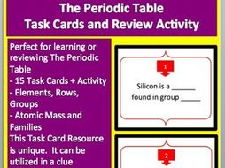 The periodic table task cards and unique activity by the periodic table task cards and unique activity urtaz Choice Image