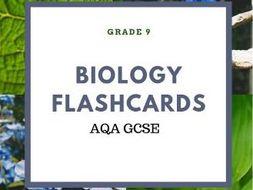 AQA BIOLOGY B1-B5 GCSE FLASHCARDS