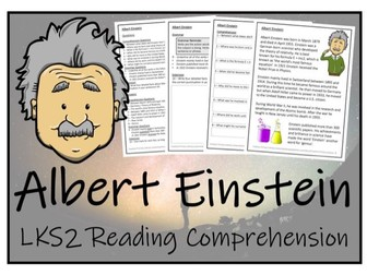 LKS2 Science - Albert Einstein Reading Comprehension Activity
