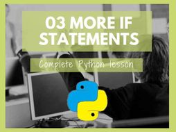 Python More If Statements (elif and nested if statements)