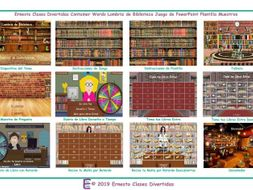 Container Words Bookworm Interactive Spanish PowerPoint Game
