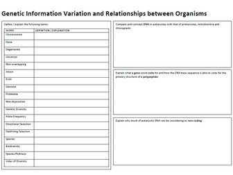 AS Biology Revision Booklets   Teaching Resources