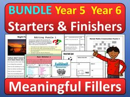 Early Finisher Activities Fillers Maths Literacy Year 5 / 6