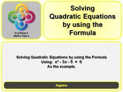 KS4 Solving Quadratic - A bespoke specific example
