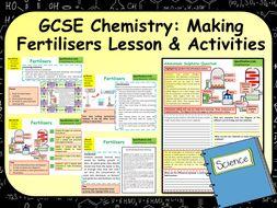 KS4  AQA GCSE Chemistry (Science) Making Fertilisers Lesson & Activities