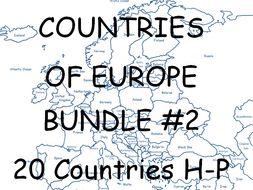 COUNTRIES OF EUROPE BUNDLE (2) H - P