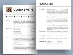 modern photo teacher resume cover letter templates for ms powerpoint
