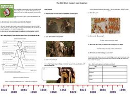 The Wild West – Ep1 -  Custer's Last Stand - Worksheet to support the BBC TV Drama Documentary