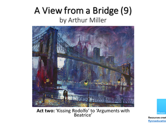 GCSE: A View From a Bridge (9) Act Two 'Kissing Rodolpho' to 'Arguments with Beatrice'
