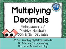 Multiplying Decimals Boom Cards--Digital Task Cards