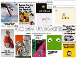 NCFE L2 Graphic Design UNIT 07 - SCHEME OF WORK