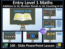 Entry Level Maths: Entry Level 1 - Addition and Number Bonds  to 10 - PowerPoint Lesson