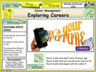 Exploring Different Careers