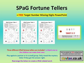 SPaG Fortune Tellers Game