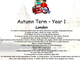 Year 1 Autumn Term London Cross Curricular Planning