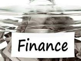 GCSE Business 9-1 Sources of Finance