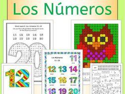 Spanish Numbers Los Numeros - activities, puzzles, bingo, flashcards