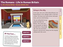 KS2 Roman Britain - 'Romano-British Cities' interactive teaching book