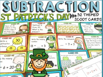 ST PATRICK'S DAY SUBTRACTION SCOOT