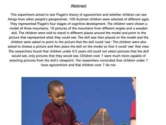IB Psychology: Developmental Studies