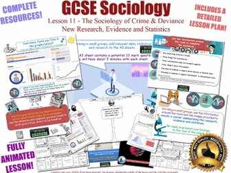New Research, Data & Statistics - Crime & Deviance L11/20 [ AQA GCSE Sociology - 8192] Evidence AO3
