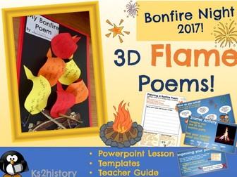 Bonfire Poetry - 3D Fire Poems
