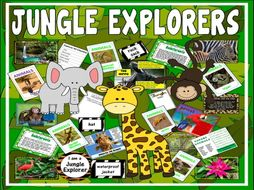 JUNGLE EXPLORERS RESOURCES SCIENCE KEY STAGE 1-2 EYFS RAINFOREST ANIMALS ROLE PLAY EARLY YEARS