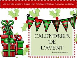 french advent calendar calendrier de l 39 avent a french. Black Bedroom Furniture Sets. Home Design Ideas