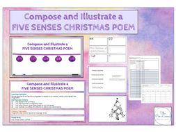 Compose and Illustrate a Five Senses Christmas Poem