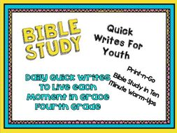 Daily Bible Quick Writes for 4th Grade - Bible Study in 10 Minute Warm-Ups