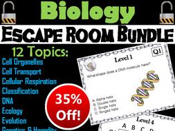 Biology Escape Room Science Bundle