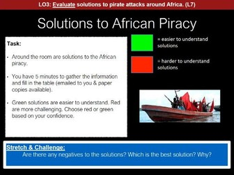 Conflict SOW: Lesson Five - Somalian Piracy