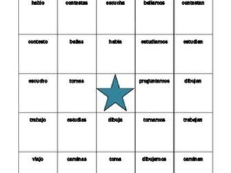 AR Verbs in Spanish Verbos AR Present tense Bingo