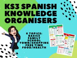 KS3 Spanish Knowledge Organisers 6-Topic Bundle