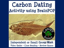 Carbon Dating Activity using BrainPOP
