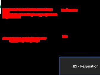 AQA GCSE 9-1 B9 Respiration Revision Mat