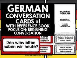 GERMAN CONVERSATION CARDS #1